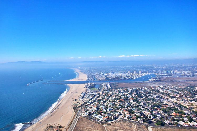 Water City Cityscape Sea High Angle View Aerial View Transportation Outdoors Coastline Pacific Ocean