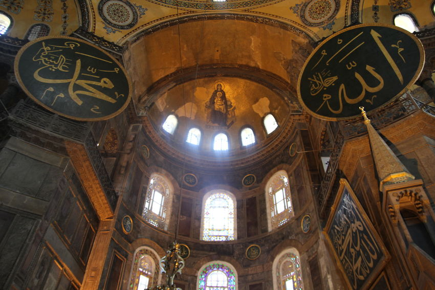Architectural Column Architecture Hagia Sophia Historic Istanbul Mosque Place Of Worship Religion