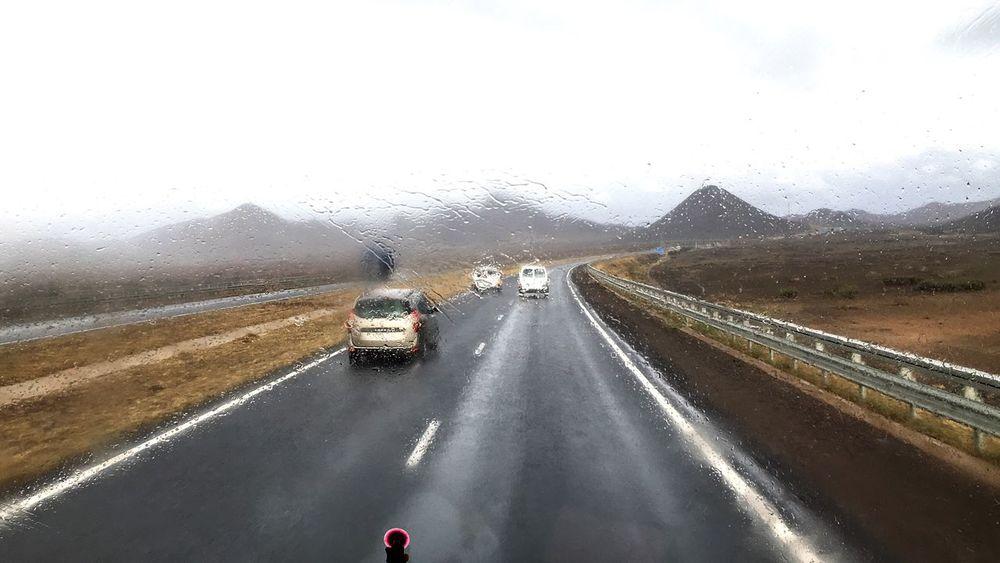 Raining Day High Way Cars