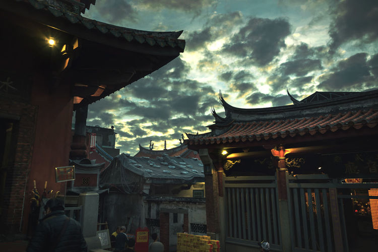 Stories of Taiwan ASIA Historical Building Tainan, Taiwan Taiwan Culture Of China Religion Religious Architecture Sky Sunset Temple