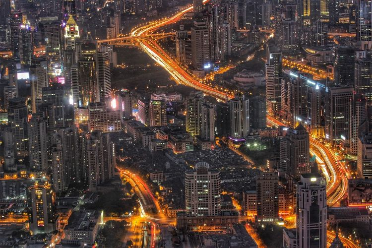 City lights Night Illuminated City Cityscape Outdoors No People Skyscraper Urban Skyline Aerial View Architecture Modern Building Exterior Sky Shanghai Shanghai, China Shanghai Streets Adventures In The City HUAWEI Photo Award: After Dark