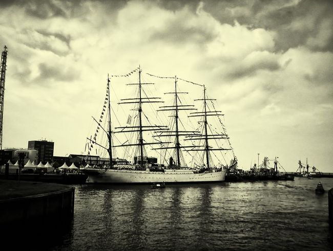 Going Sailing Black & White Sailing Ship Be Amazing