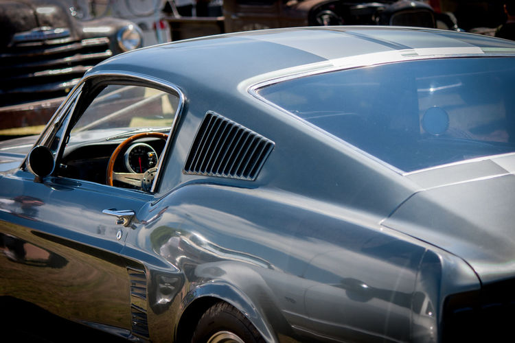 View of old sports car