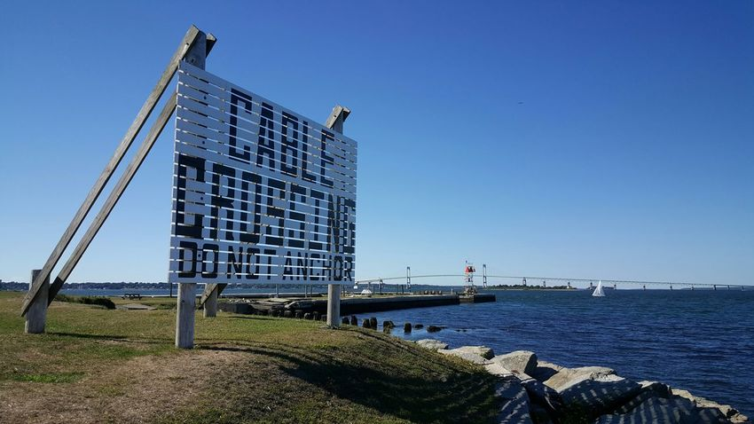 Do not anchor. Warning Sign Newport Harbor Newport, RI S6 Rhode Island Photography⚓ Newport Series Eyeemphoto