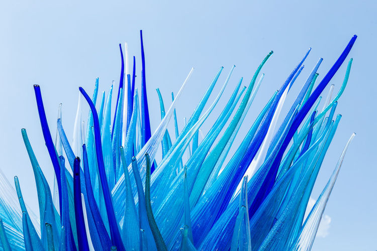 Tentáculos de vidrio Art And Craft Blue Close-up Monument Multi Colored Sculpture