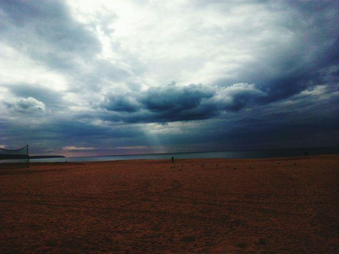 Beach Clouds Winterdays Nazaré