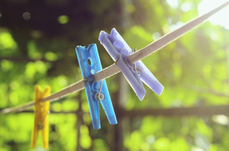 Mandal Hanging Clothespin Tied Up Clothesline Close-up