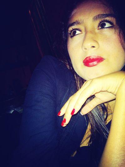 Me Redlips Saturdaynight Cute