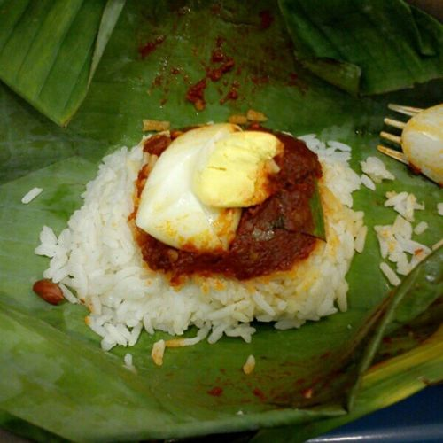 My Breakfast!Super Spicy and Ho Chak Nasi Lemak!!! Spicy Nice Breakfast Rm1Only