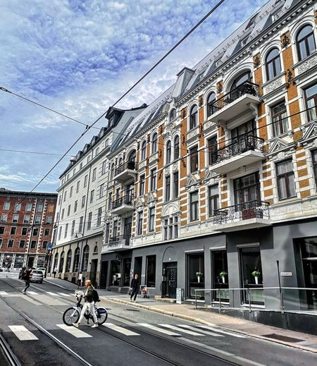 Norway Oslo Road City Sky Architecture Building Exterior Built Structure Tramway Track Moving Street Scene