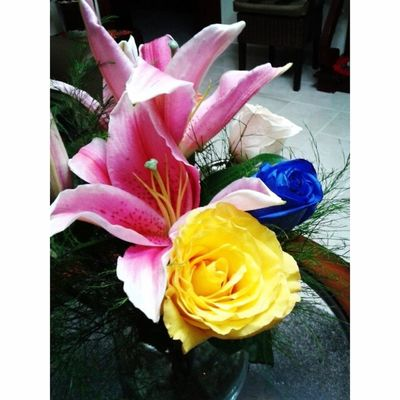 Ayy estos detallitos ♥.♥ Floresparami Rosas Lirios Rosaazul asinoquemeenamoro
