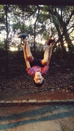 The Still Life Photographer - 2018 EyeEm Awards Tree Full Length Smiling Healthy Lifestyle Exercising Happiness Childhood Upside Down Hanging Acrobatic Activity