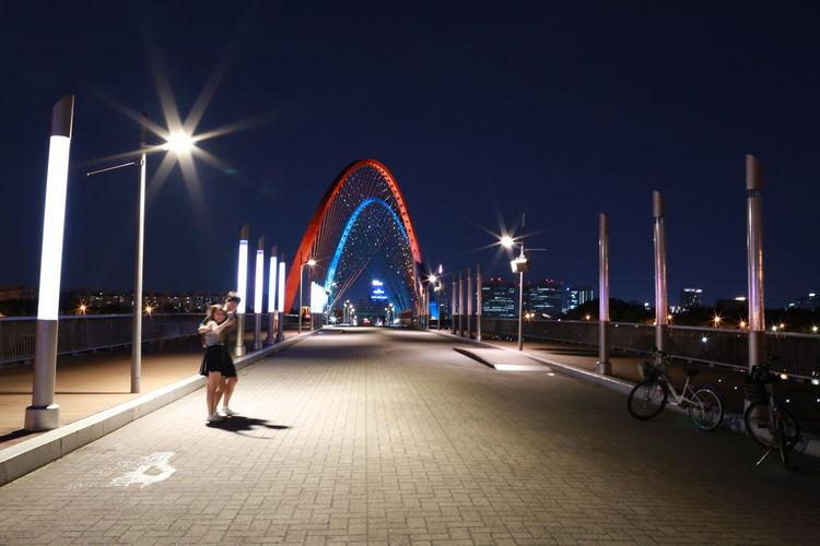 Bridge Korean Bridge Cities At Night