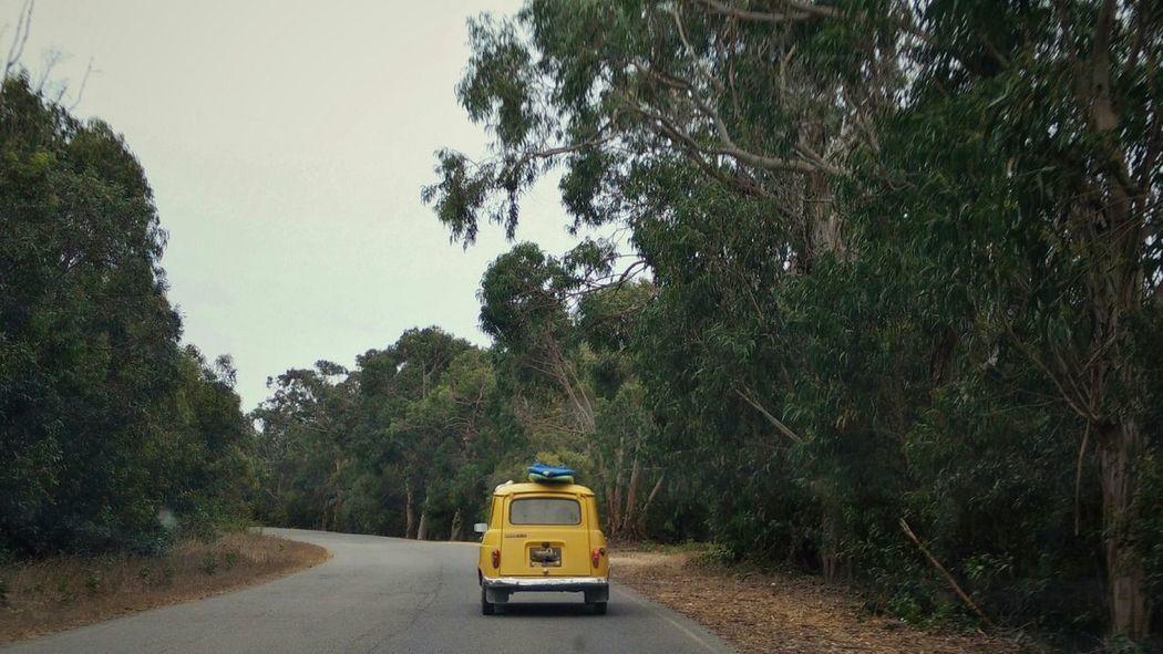 Portugal Road Trip Oldtimer Renault 4 On The Road