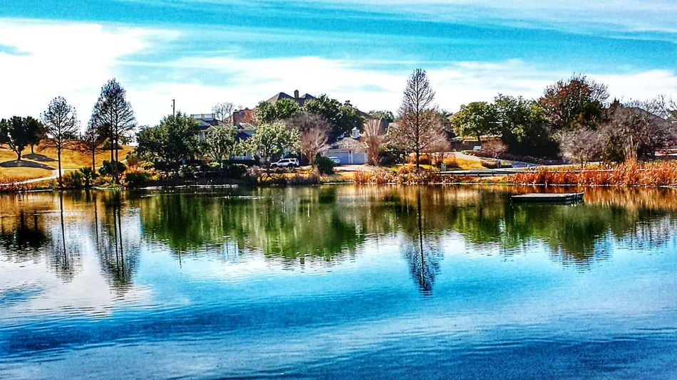 Lovely Texas Afternoon How's the Weather Today? EyeEm Nature Lover Soaking up the sun water_collection reflection_collection Sky collection