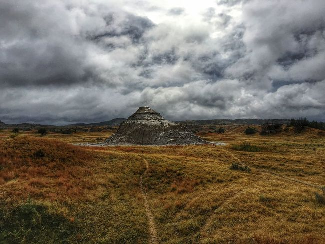 No one around when the rain and clouds parted 😍 Nature Beauty In Nature Landscape Sky Scenics Weather Cloud - Sky North Dakota North Dakota Badlands Badlands Theodore Roosevelt National Park
