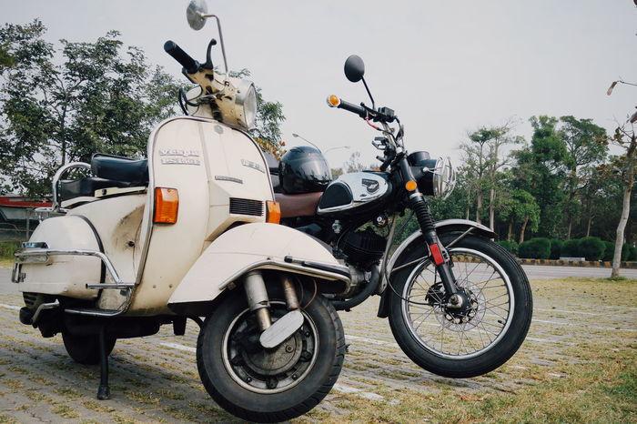 Have a trip with an old soul Old Motor  Old Motorcycle Vespa Old Vespa Kawadski