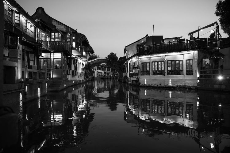 Black And White Photography Reflections Shadows & Lights Water Building Exterior Sky Reflection Nature Built Structure Architecture