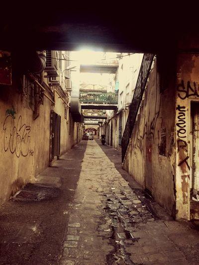 Oldtown Old Buildings Street Art/Graffiti Decrépito