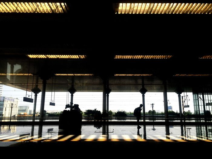 Railway Railway Station Train Station Station On The Way Public Transportation On The Road Reflection Light And Shadow