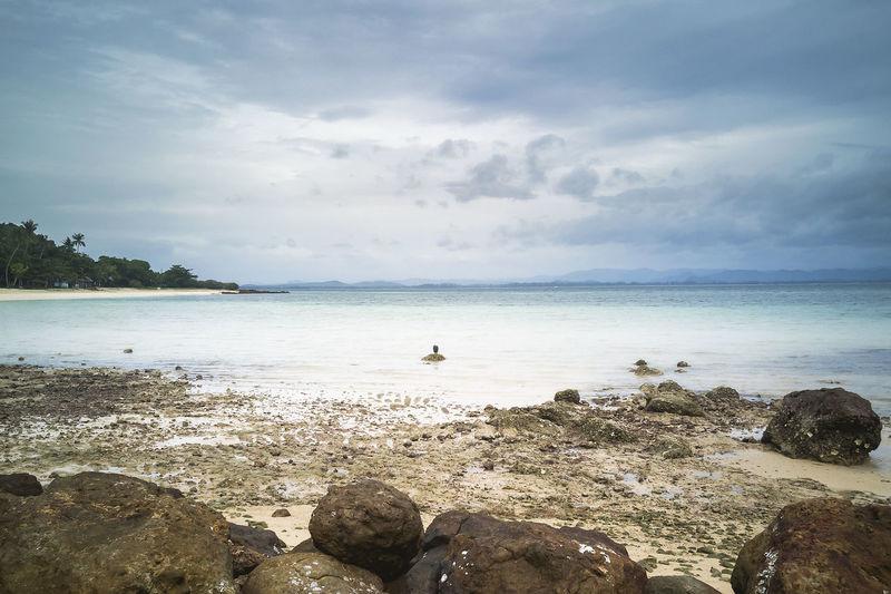 Rocks on the beach at koh talu island, prachuap khiri khan, thailand