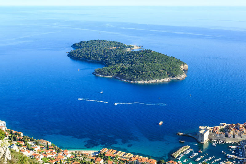 Aerial view at Lokrum island near old town of Dubrovnik from Srd hill, Croatia Croatia Dubrovnik, Croatia Game Of Thrones Panorama Panoramic View Yachts Adriatic Adriatic Sea Aereal View Aerial View Blue Croatian Cruising Dubrovnik Holiday Lokrum  Lokrum Island Old Harbour Sailing Scenics Sea Sky Srd Hill Turquoise