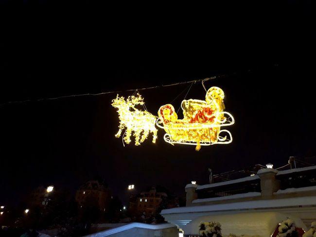 Night Illuminated Christmas Celebration Winter Christmas Decoration Christmas Lights