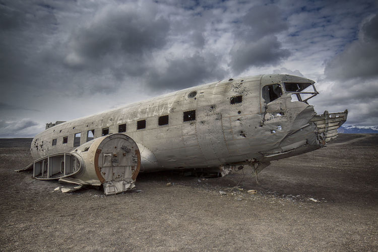 Abandoned Airplane In Iceland