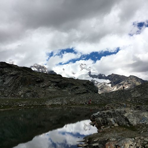 Monte Rosa Sky Mountain Beauty In Nature Cold Temperature Snow Tranquility