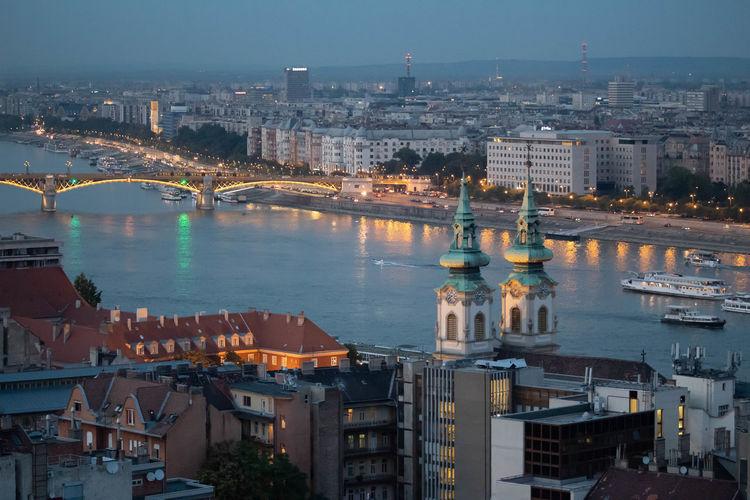 Danube river view in budapest.