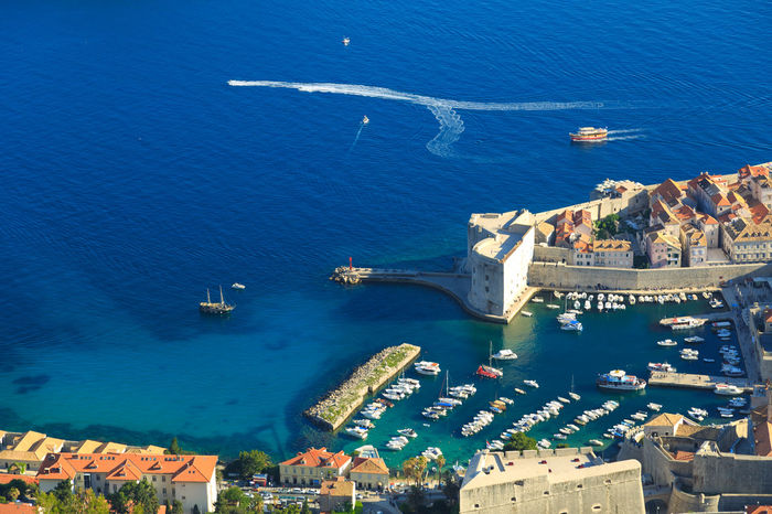 Aerial view of Dubrovnik, Croatia Adriatic Adriatic Sea Aerial Shot Aerial View Architecture Beautiful City Walls Crotia Dubrovnik Medieval Town Nature Old Town Panorama Tourism Travel Unesco UNESCO World Heritage Site View From Above