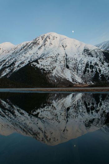 Pic from 2013 where I traveled to Alaska. Alaska USA Starting A Trip Travel Photography Snow Landscapes With WhiteWall Edge Of The World Mountain View Mirror The Great Outdoors With Adobe