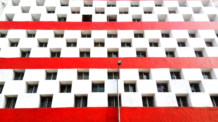 Checked Pattern Chess Board Full Frame Pattern Red No People Close-up Day Architecture Minimalism Phoneonly Travel Destinations Smartphonephotograhy EyeEmNewHere EyeEm Selects The Week On EyeEm Minimalist Photography  PhonePhotography City Colour Your Horizn