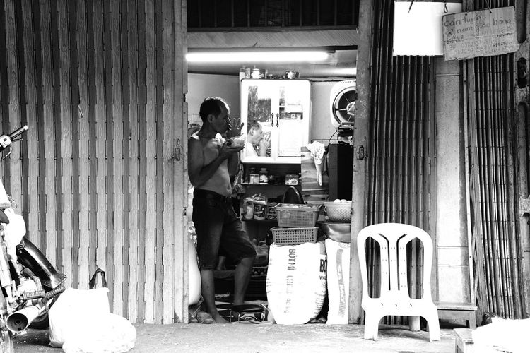 Man working at store