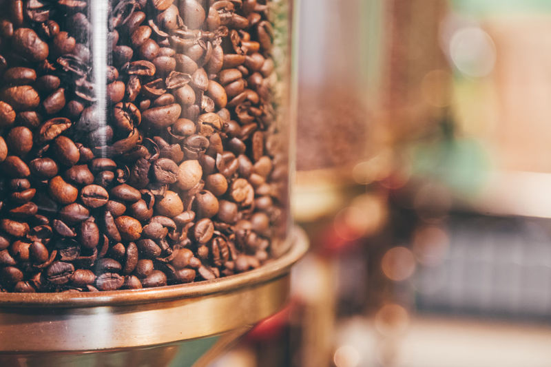 Abundance Brown Close-up Coffee Coffee Bean Collection Focus On Foreground Food Food And Drink Freshness Group Of Objects Large Group Of Objects No People Repetition Retail  Retail Display Roasted Coffee Bean Sack Selective Focus