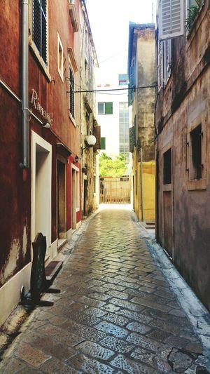 View of narrow street