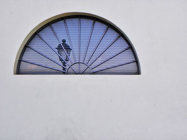 No People Architecture Outdoors Window Circular Window Reflection Lamp Street Lamp Wall Wall - Building Feature