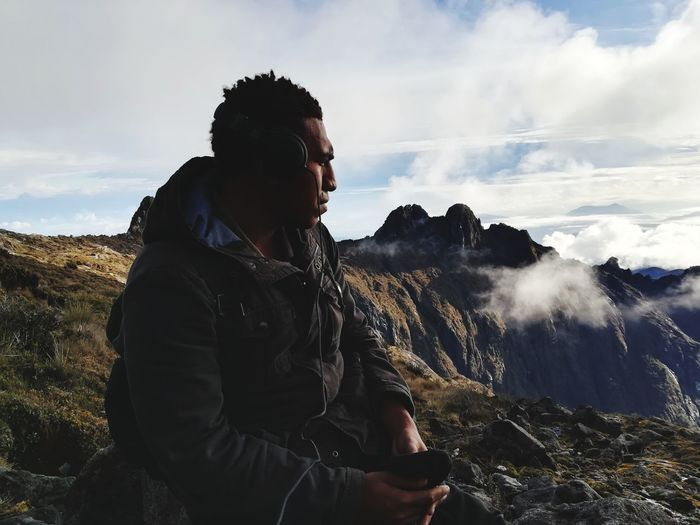 Shhhh... Png Papua New Guinea Traveling Outdoors Mt Wilhelm Mountain Adventure Sky Landscape Cloud - Sky Hiker Hiking Backpack Trail Explorer Mountain Peak Mountain Climbing Go Higher It's About The Journey My Best Photo