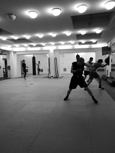 Somehow, only B&W captures the gritty training of the fight game People Illuminated Indoors  Boxinggirl Boxing