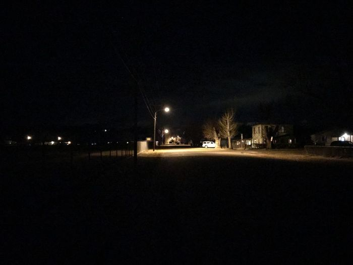 Night street. Night Illuminated Street Light Outdoors Road No People City