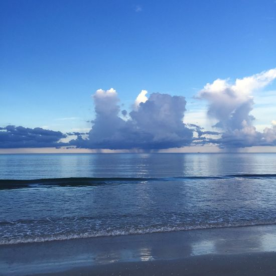 Water Sea Nature Sky Scenics Beauty In Nature Tranquility No People Outdoors Reflection Tranquil Scene Day Blue Horizon Over Water Ocean Cloud - Sky Cloud Clouds And Sky Beach Beachphotography Beach Life
