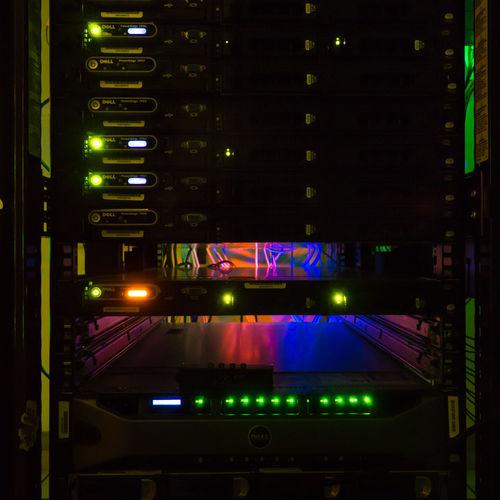 Computer cluster Computer Cluster Computer Keyboard Illuminated No People