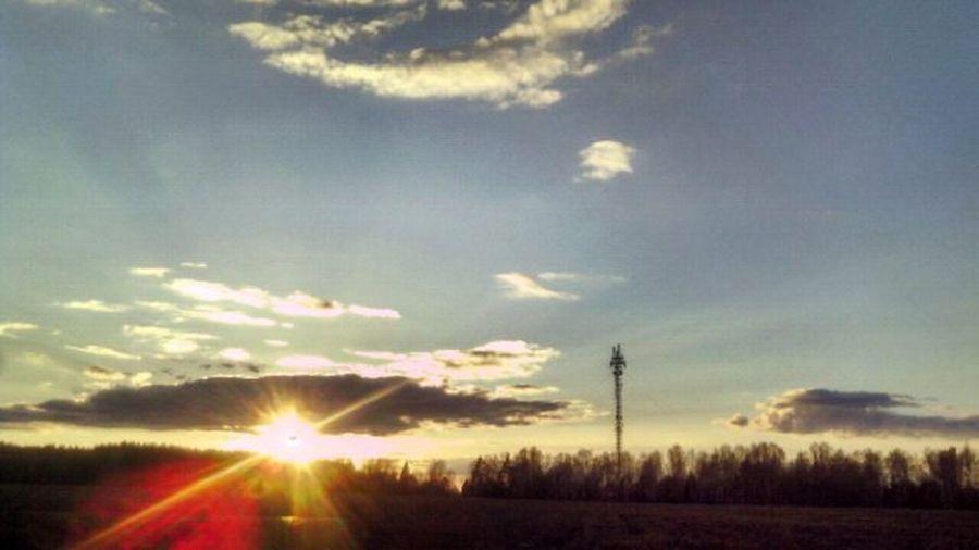 Place Perfect Russia Warm Sun Sunlight Evening Spring Nature Beautifl это_Россия_детка это_россия поле вышка