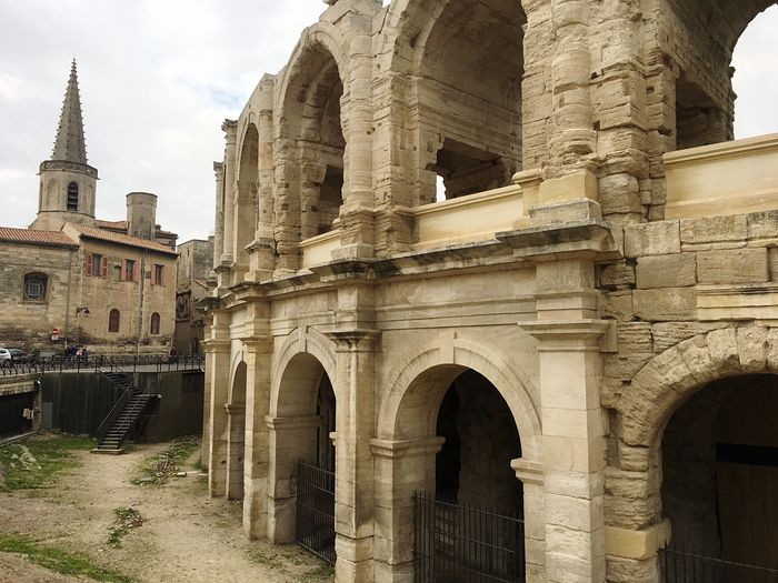 Architecture Built Structure Building Exterior History Travel Destinations Arch Old Ruin Ancient Tourism Outdoors No People Day Place Of Worship Sky Ancient Civilization France Arles Frainf Your Ticket To Europe