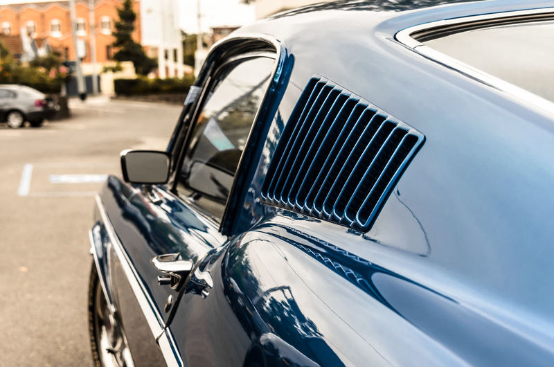 Close-up of classic car