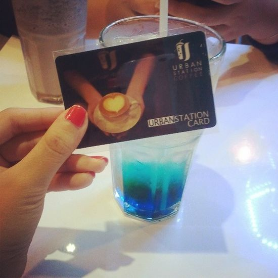Finally got Regular Customer Card ★ Urbanstation Card Deepblue Soda
