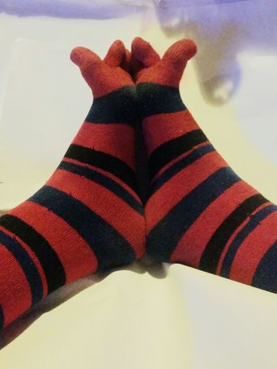 Low Section Human Leg Red One Person Close-up Human Body Part Indoors  Water Day People SOCKS!!! Toesocks Handmade By Me