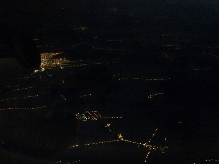 Night No People City Outdoors Building Exterior Sky Beauty In Nature Astronomy Architecture Illuminated Nature Scenics Star - Space High Angle View Night Photography Night Lights Plane Lights City Urban Satellite View