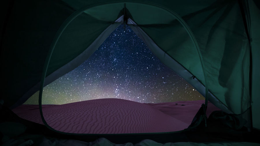 Low angle view of tent