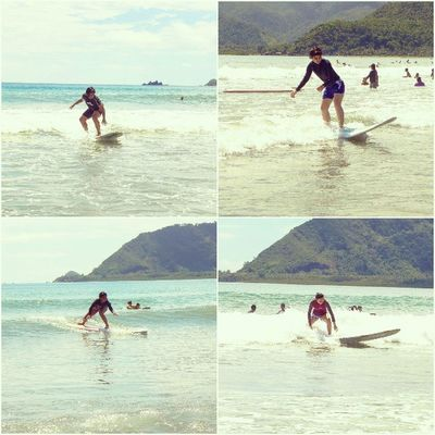 Dysfunctionalfamily goes Surfing in Baler thanks to Aliya Surf Camp for the lessons :) @nirailu @icarys @tinisyay